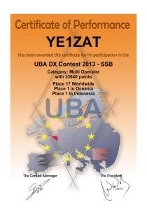 UBA SSB 2013